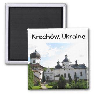 Orthodox monastery in Krechow, Ukraine Magnet
