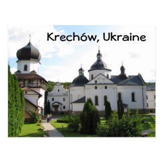 Orthodox monastery in Krechow, Ukraine Postcard