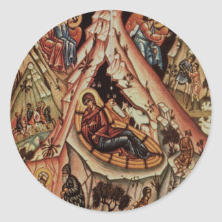 Orthodox Nativity II Classic Round Sticker