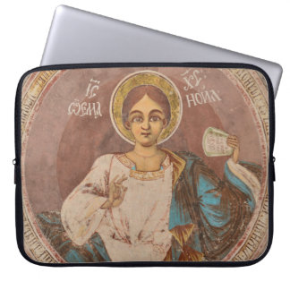 orthodox saint icon church religion god jesus chri laptop sleeve