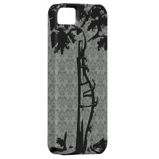 Orthopedic Crooked Tree on Gray Damask iPhone 5 Cases
