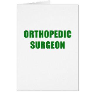 Orthopedic Surgeon Card