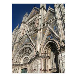 Orvietto Church, Sicily, Italy Postcard