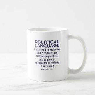 Orwell sur la langue politique mug blanc