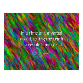 Orwellian Truth Postcard
