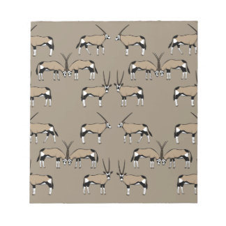 Oryx Antilope selection Notepad