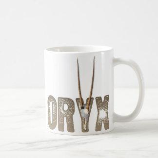 Oryx - beast of the desert / Namibia Africa Skull Coffee Mug