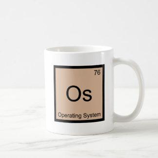 Os - Operating System Chemistry Element Symbol Tee Basic White Mug