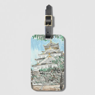 Osaka Castle Japan Luggage Tag with Card Holder