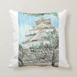 Osaka Castle Japan Pillow Home Decor