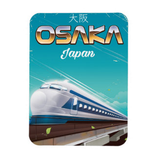 Osaka Japan bullet Train Vintage travel poster Magnet