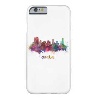 Osaka skyline in watercolor barely there iPhone 6 case