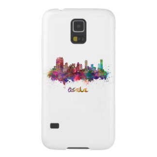 Osaka skyline in watercolor case for galaxy s5