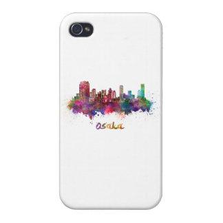 Osaka skyline in watercolor iPhone 4/4S covers