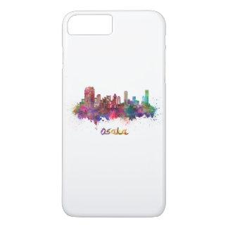 Osaka skyline in watercolor iPhone 7 plus case