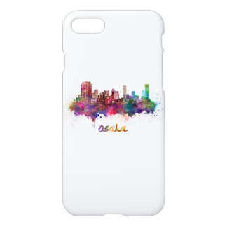 Osaka skyline in watercolor iPhone 8/7 case
