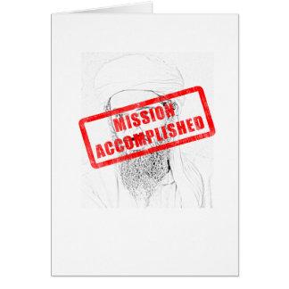 Osama Dead Mission Accomplished Card