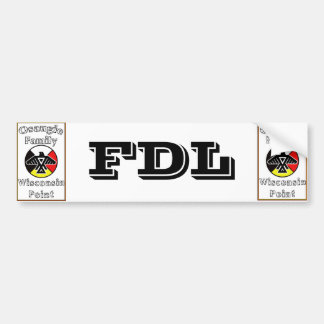 Osaugie FDL Bumper Sticker - Must edit to see all!