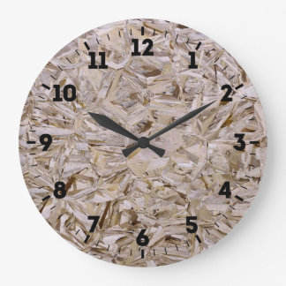 OSB Construction Plywood Sheeting Print on a Large Clock