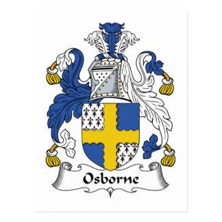 Osborne Family Crest Postcard
