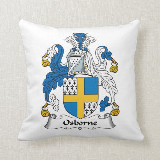 Osborne Family Crest Throw Pillow