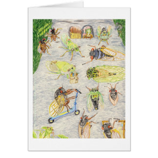 Oscar And Cassandra And Their Cicada Friends Card