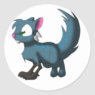 Oscar Chinchilla Cat Bird Dragon Hybrid Classic Round Sticker