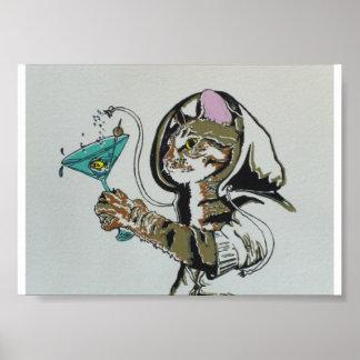 """""""Oscar in Cat Heaven"""" print"""