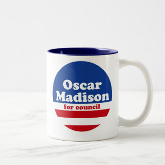 Oscar Madison for Council mug