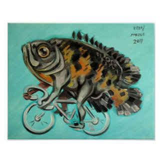 Oscar On A Bicycle Poster