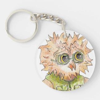 Oscar Owl Character Round Key Chain