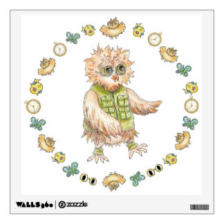 Oscar Owl in Khaki Wall Decal