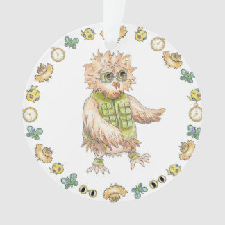 Oscar Owl Khaki Christmas Ornament