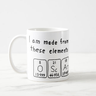 Oscar periodic table name mug