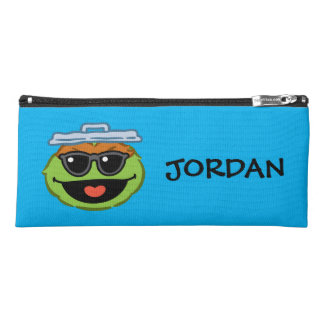 Oscar Smiling Face with Sunglasses | Add Your Name Pencil Case