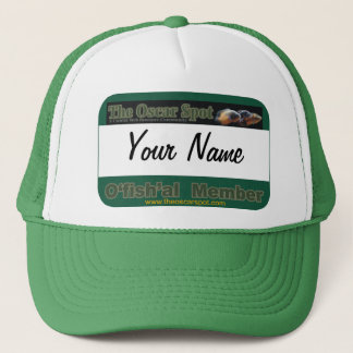 Oscar Spot Ofishal Name Tag Template Trucker Hat