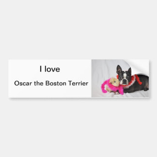 Oscar the Boston Terrier Bumper Sticker