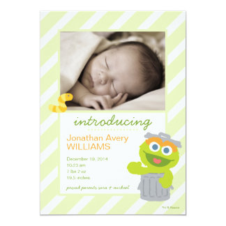 Oscar the Grouch Birth Announcement