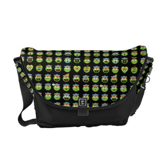 Oscar the Grouch Emoji Pattern Courier Bags
