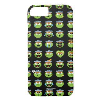 Oscar the Grouch Emoji Pattern iPhone 7 Case