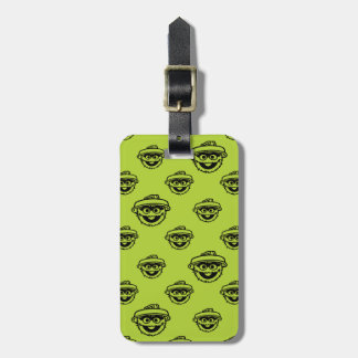 Oscar the Grouch Green Pattern Luggage Tag