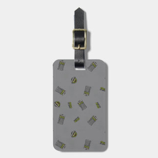 Oscar the Grouch | Grey Pattern Bag Tag