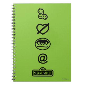 Oscar the Grouch Icons Notebooks