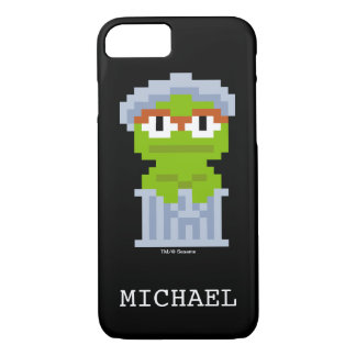 Oscar the Grouch Pixel Art | Add Your Name iPhone 7 Case