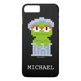 Oscar the Grouch Pixel Art   Add Your Name iPhone 8 Plus/7 Plus Case