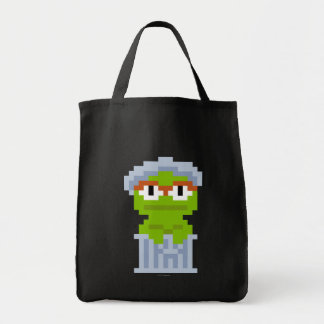 Oscar the Grouch Pixel Art Grocery Tote Bag
