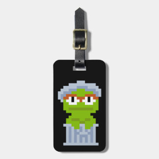 Oscar the Grouch Pixel Art Luggage Tag