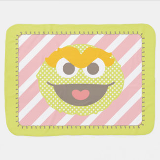 Oscar the Grouch Polka Dot Big Face Baby Blanket