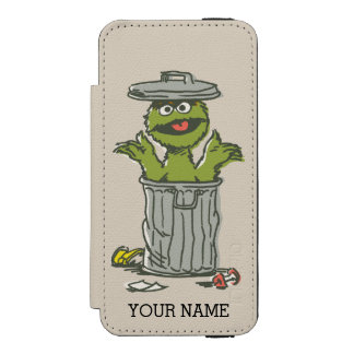 Oscar the Grouch Vintage | Add Your Name Incipio Watson™ iPhone 5 Wallet Case
