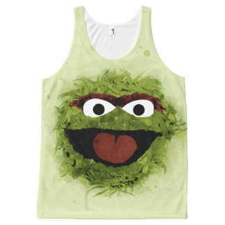 Oscar the Grouch | Watercolor Trend All-Over-Print Tank Top